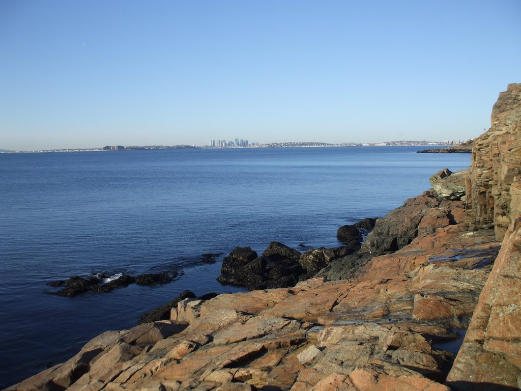 Boston from Nahant, Нахант
