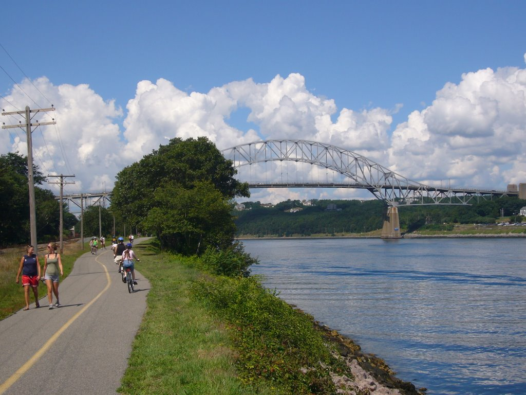 Cape Cod, Sagamore Bridge from Canal Service Rd. (10.08.2008), Сагамор