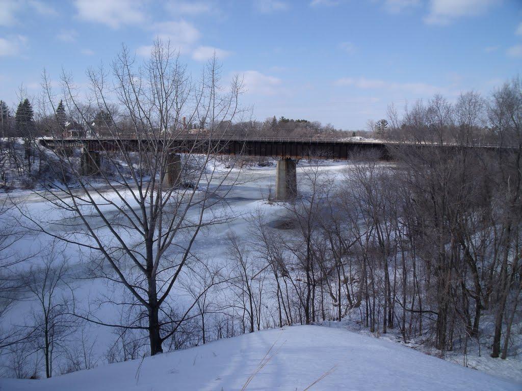 Railway bridge over the Mississippi River, Литтл-Фоллс