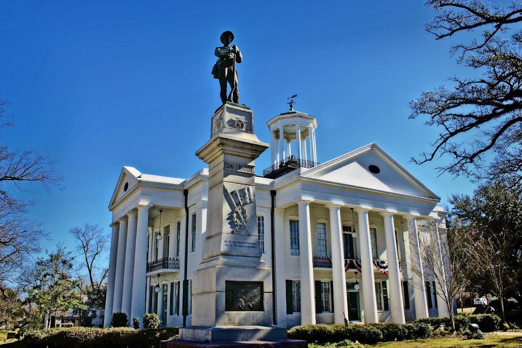 Hinds County Courthouse - Built 1857 - Raymond, MS, Флаууд
