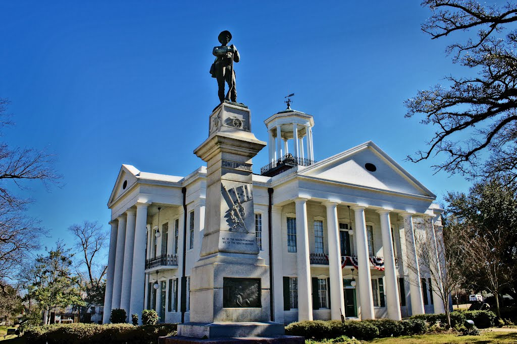 Hinds County Courthouse - Built 1857 - Raymond, MS, Флоренк