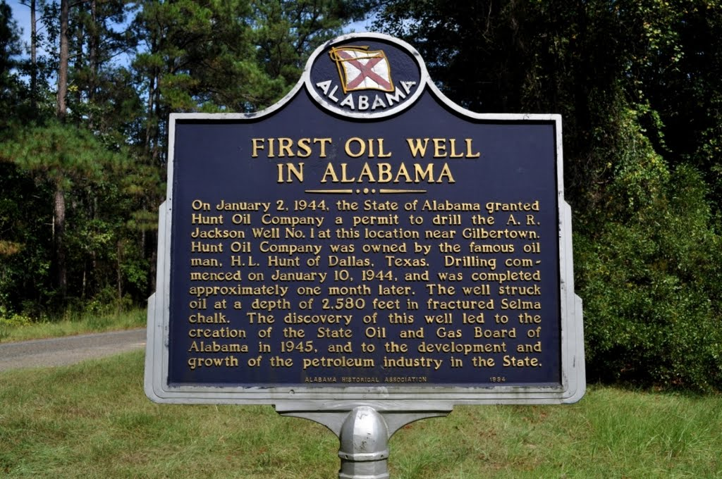 Site of 1st Production Oil Well in Alabama at Gilbertown, AL, Хармони