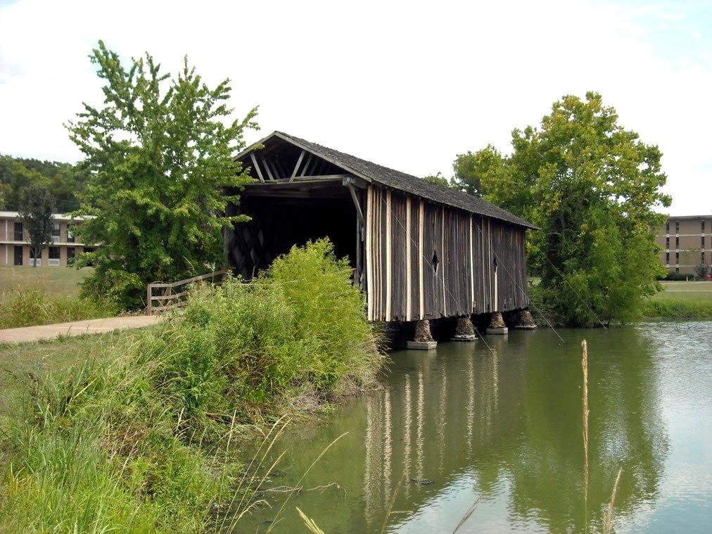 Alamuchee Bellamy Covered Bridge on the UWA Campus at Livingston, AL, Хармони