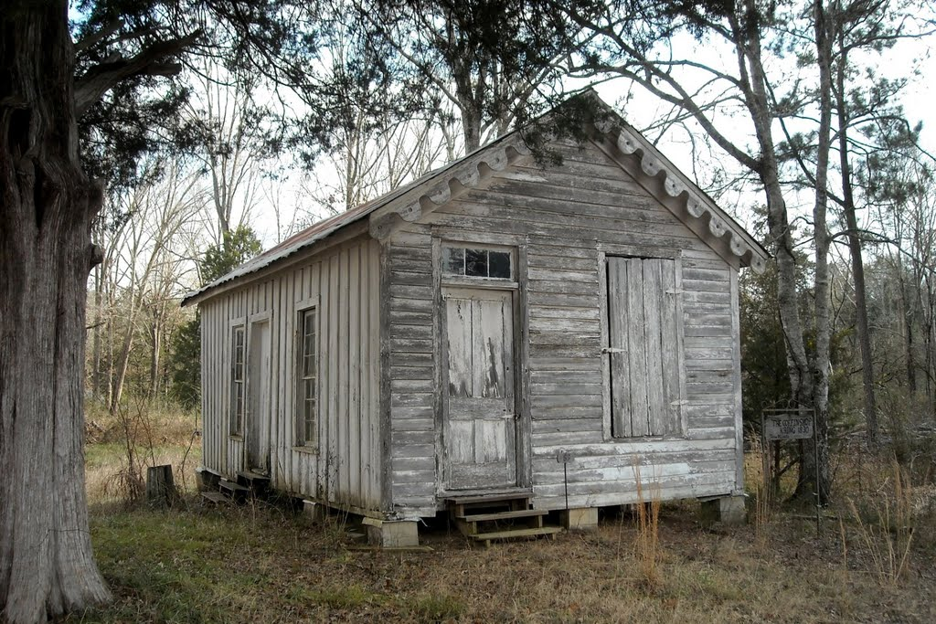 The Coffin Shop at Gainesville, AL (built ca. 1860, listed on the NRHP), Хармони