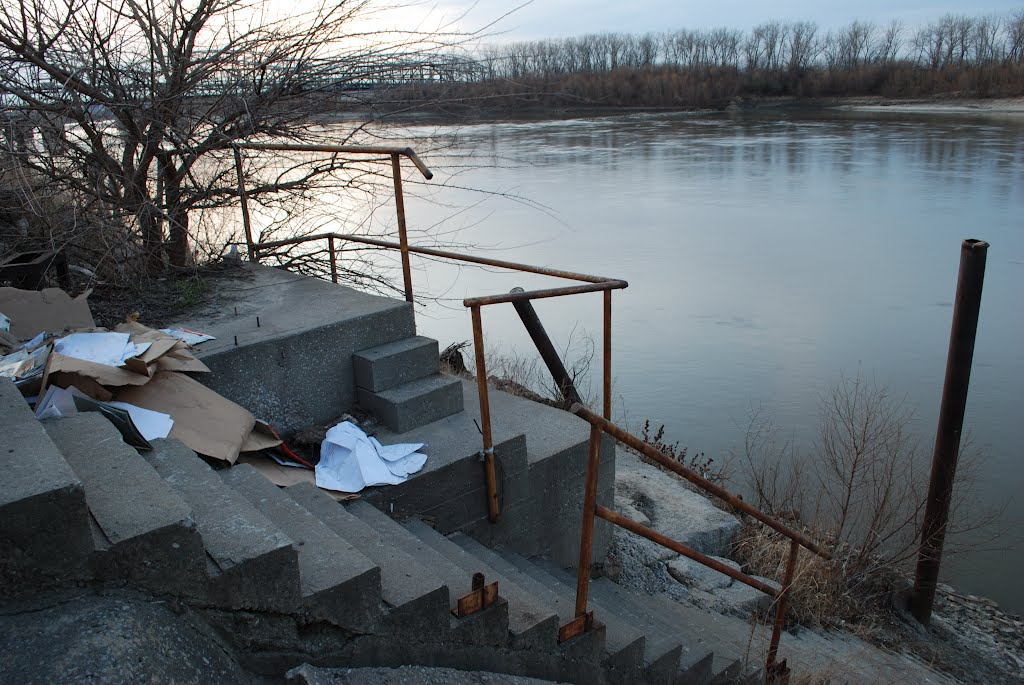 Steps on the Missouri river, Норт-Канзас-Сити