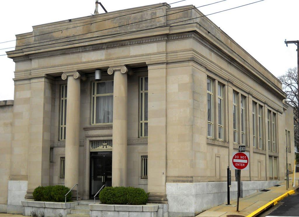 old bank, Historic U.S. Route 1, Baltimore Avenue, Hyattsville, MD, Коттедж-Сити