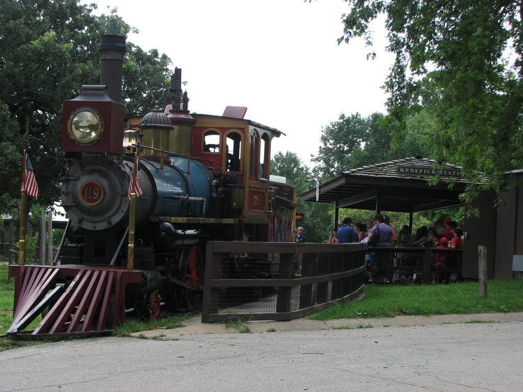 Kenefick Station - Engine 119 - Omaha Zoo, Папиллион
