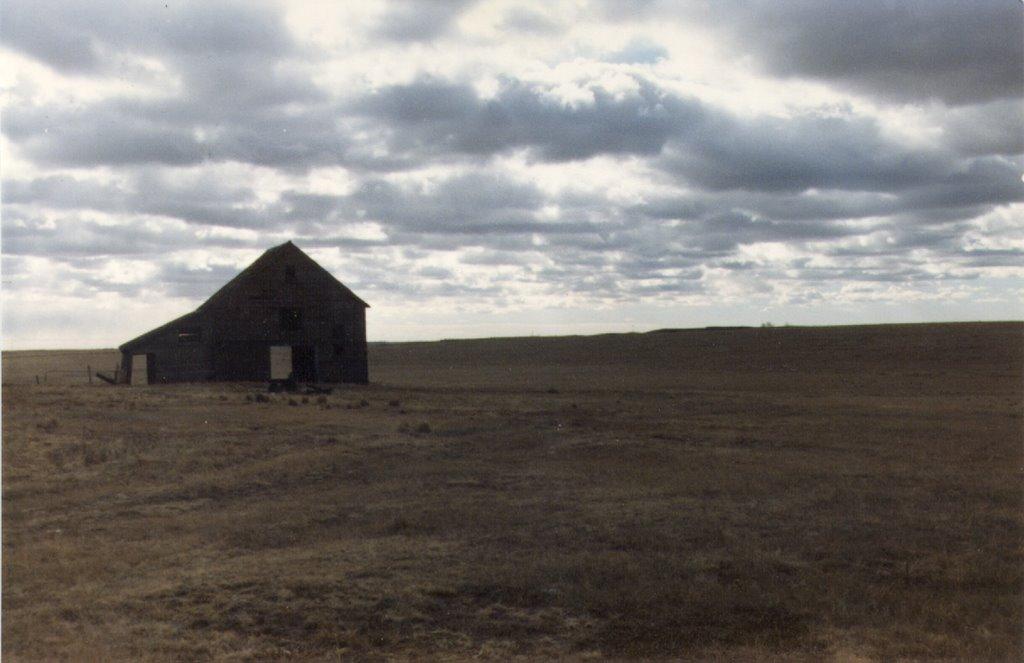 Barn somewhere west of Arnold NE 1-1989, Скоттсблуфф