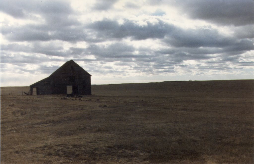 Barn somewhere west of Arnold NE 1-1989, Спрагуэ