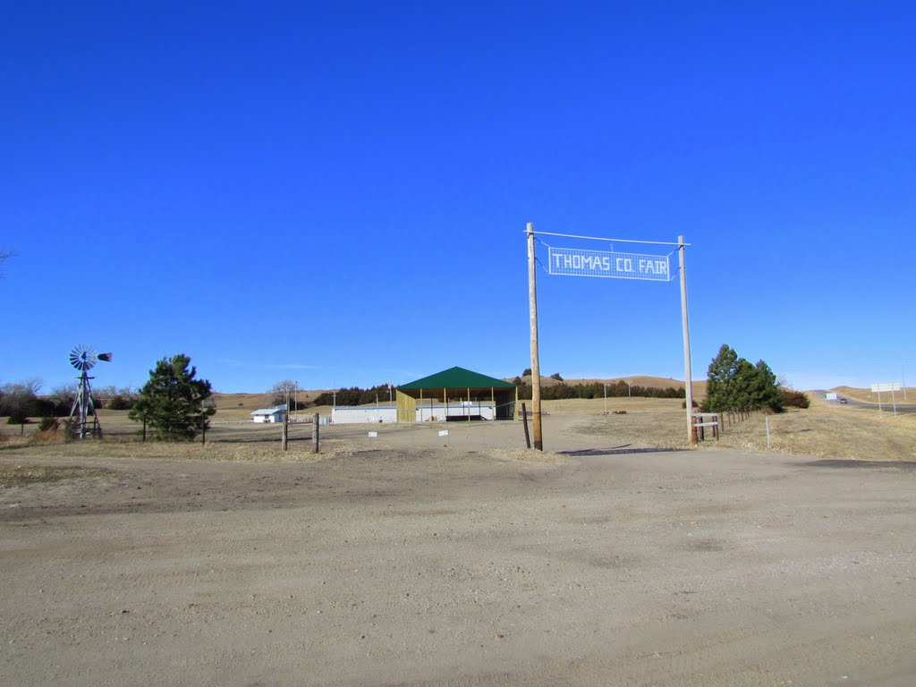 Entrance to the Thomas County Fairgrounds, 83861 U.S. Route 83. Thedford, Nebraska. Viewed north-westerly, Спрагуэ