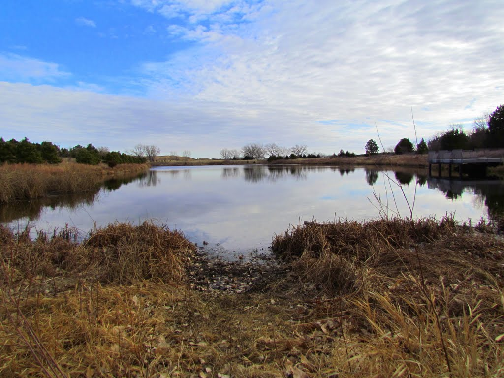 Viewing easterly across Fish Pond, off the side of Nebraska State Spur Hwy. 86B near the eastern entrance to the Bessey Unit of the Nebraska National Forest. Halsey, Nebraska, Хастингс