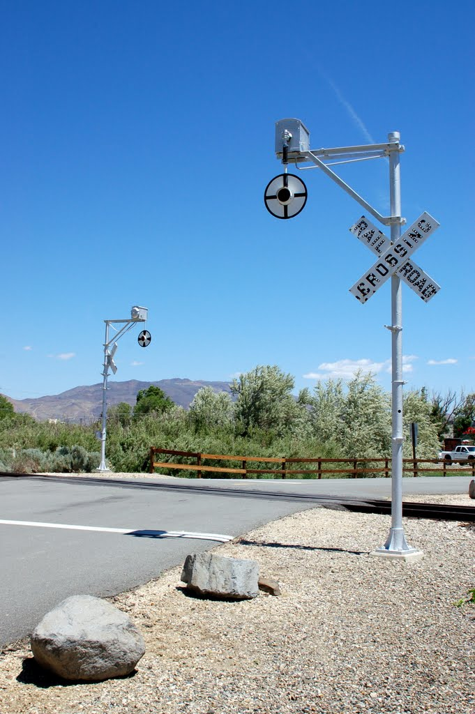 Wig-Wag Crossing Signal at Carson City, NV, Карсон-Сити