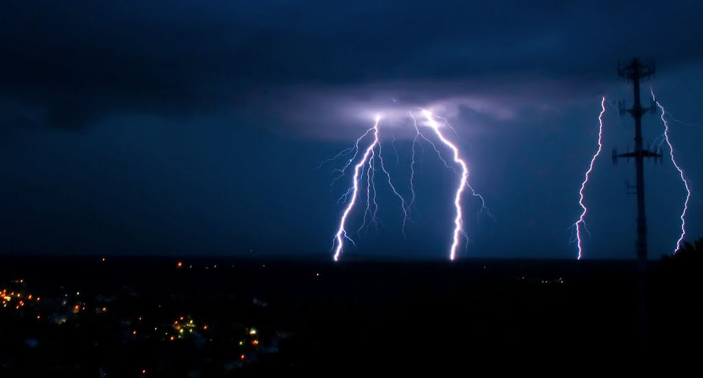 Lightning seen from Garrison Hill Tower, Довер