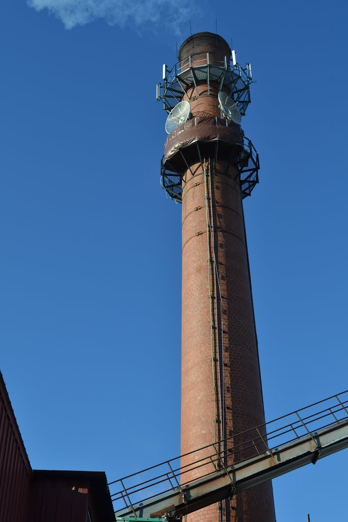 The smoke stack from the wood fired boiler., Конкорд