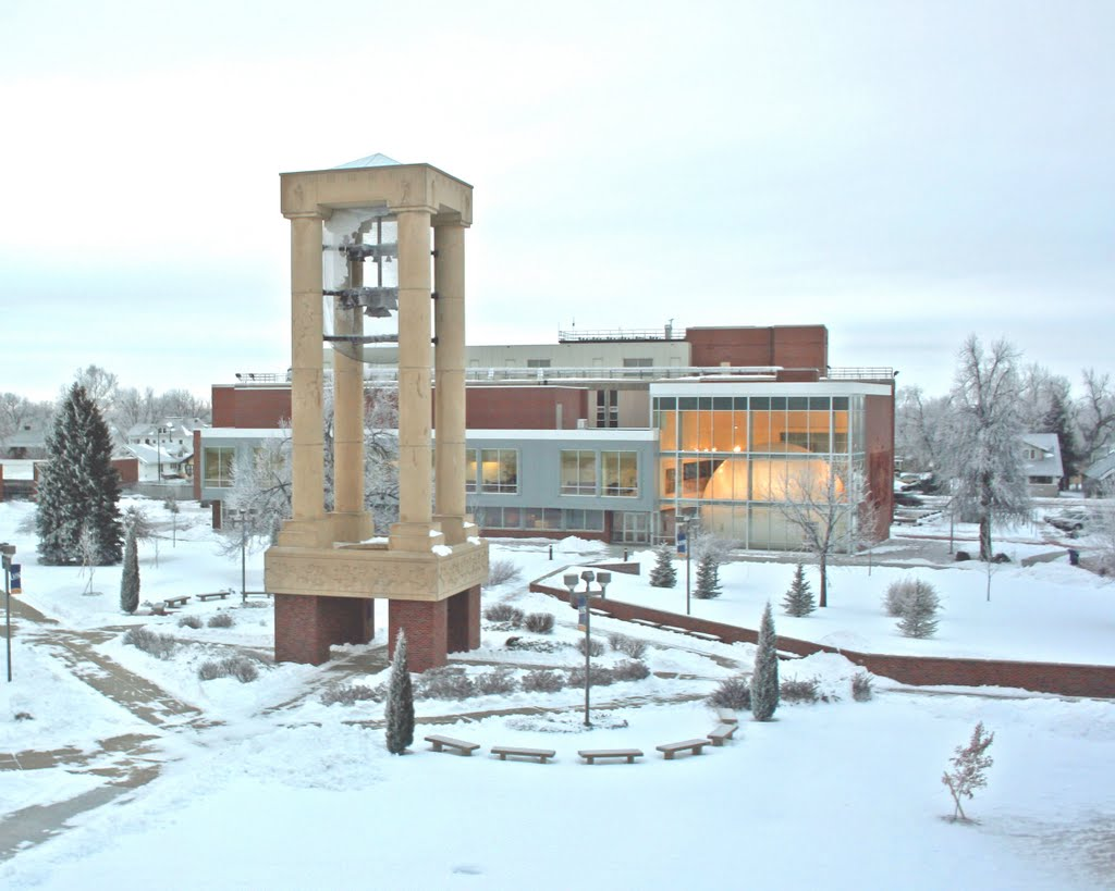 UNK Bell Tower & Planetarium in winter, Кирни