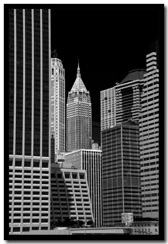 Wall Street from the East River, Ист-Патчога