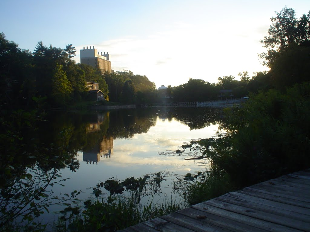 Lake in campus, Итака