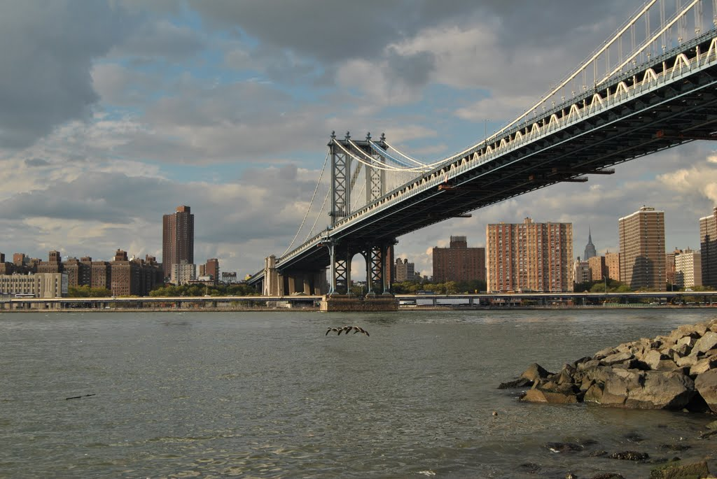 View of New York from Manhattan Bridge - New York (NYC) - USA, Камиллус