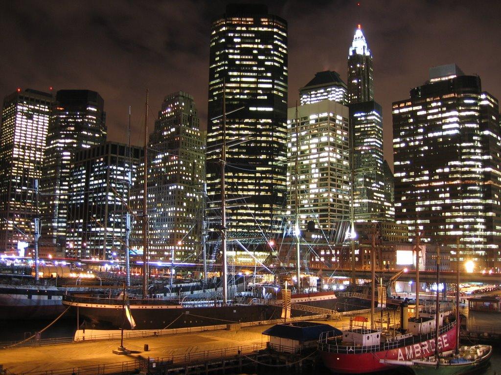 South Street Seaport and Financial Center skyline [007783], Кларк-Миллс