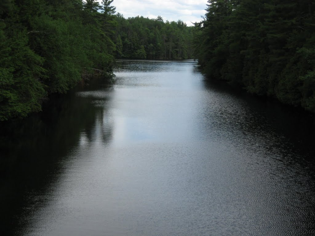Saranac River from Kent Falls Bridge, Клинтон