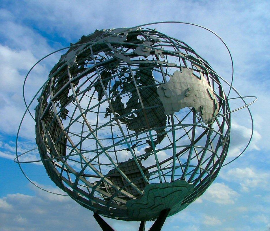 Unisphere in Flushing Meadows Park, in Queens, New York, Корона