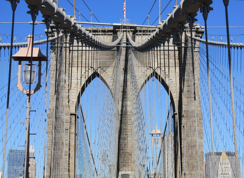 The Brooklyn Bridge - We build too many walls and not enough bridges (Isaac Newton), Линелл-Мидаус