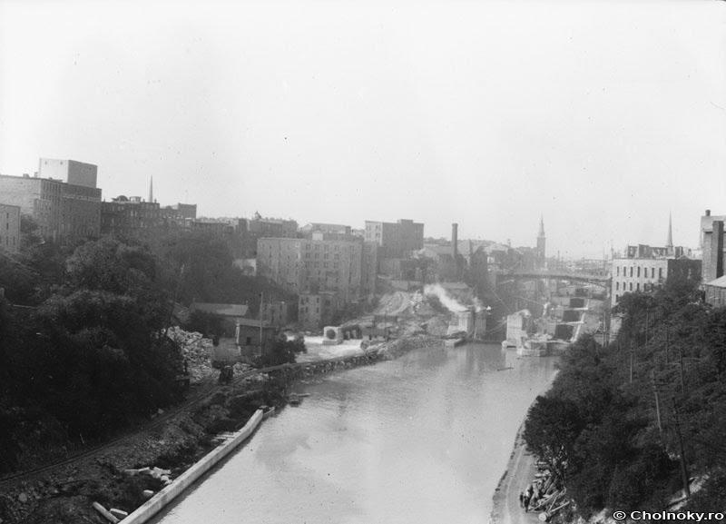 Cholnoky Jenő: Lockport. Az Erie csatorna zsilipjei (1912), Локпорт