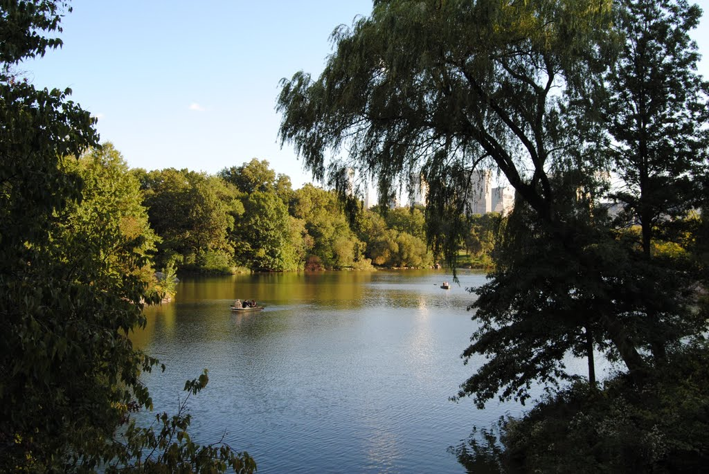 Lake at Central Park of New York - NYC - USA, Манхаттан