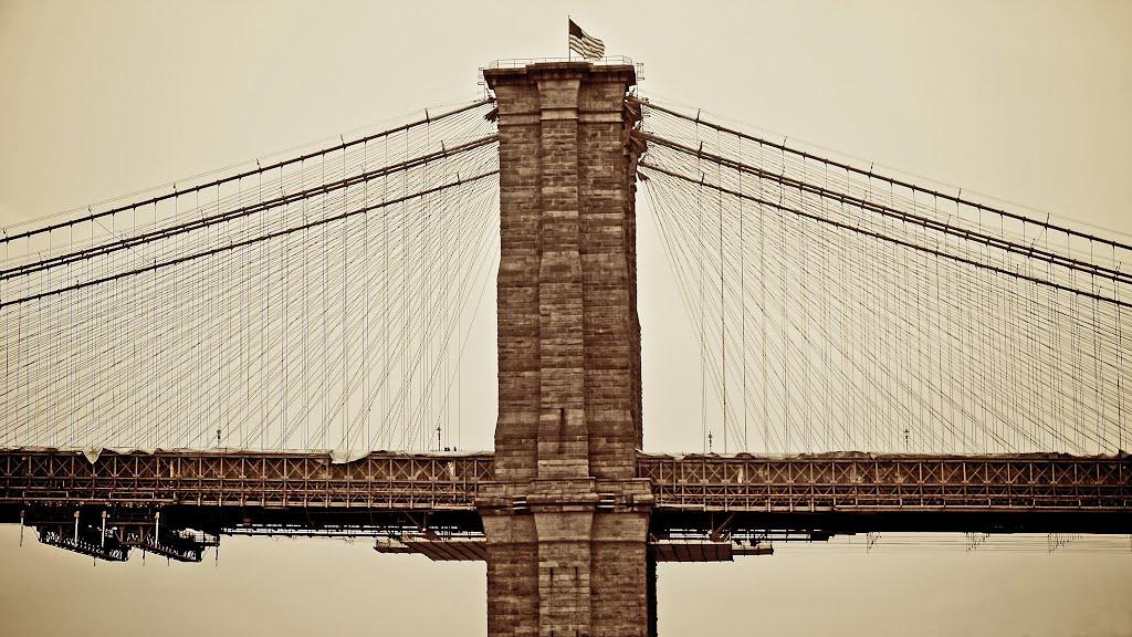New York, The Brooklyn Bridge, Миддл-Хоуп