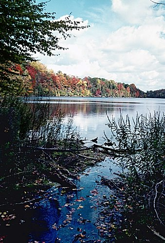 Green Lakes State Park in fall, Миноа