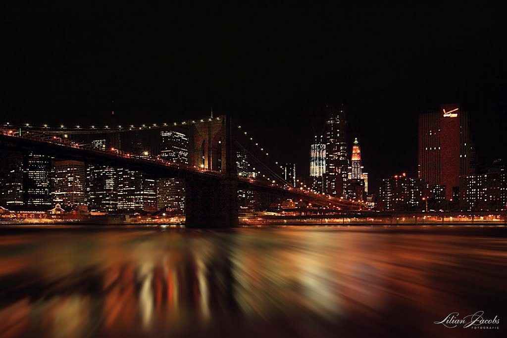 Brooklyn Bridge  , Manhattan   New York, Нискаюна