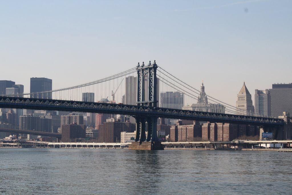 Manhattan Bridge, Manhattan., Нью-Йорк
