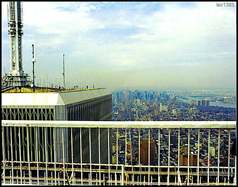 To remember ... the terrace at the top of the Twin Towers, NY 1996..© by leo1383, Нью-Йорк