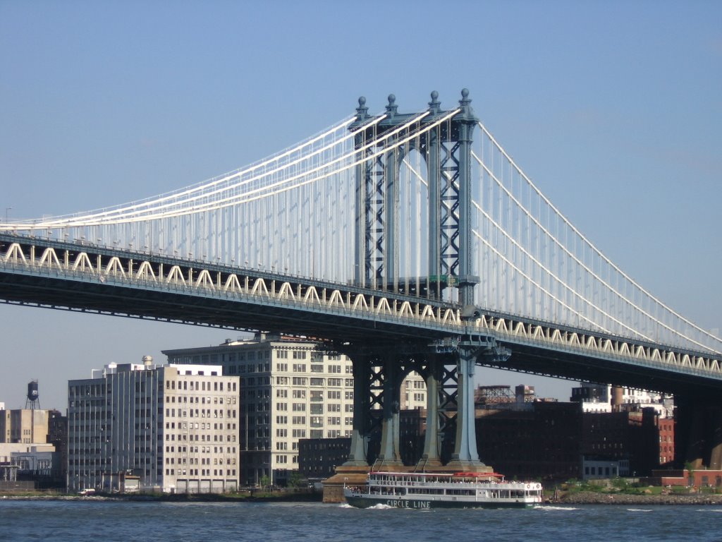 Manhattan Bridge (detail) [005136], Нью-Йорк-Миллс