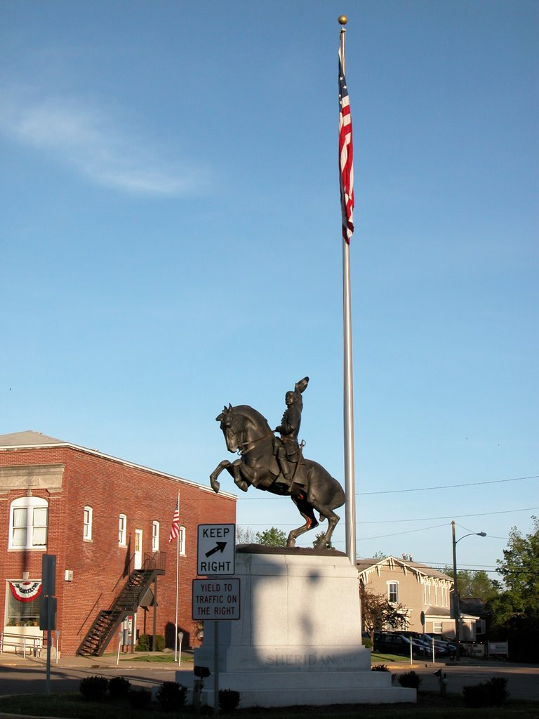 General Philip Henry Sheridan Equestrian Memorial, Town Square, Somerset, Ohio, Перри