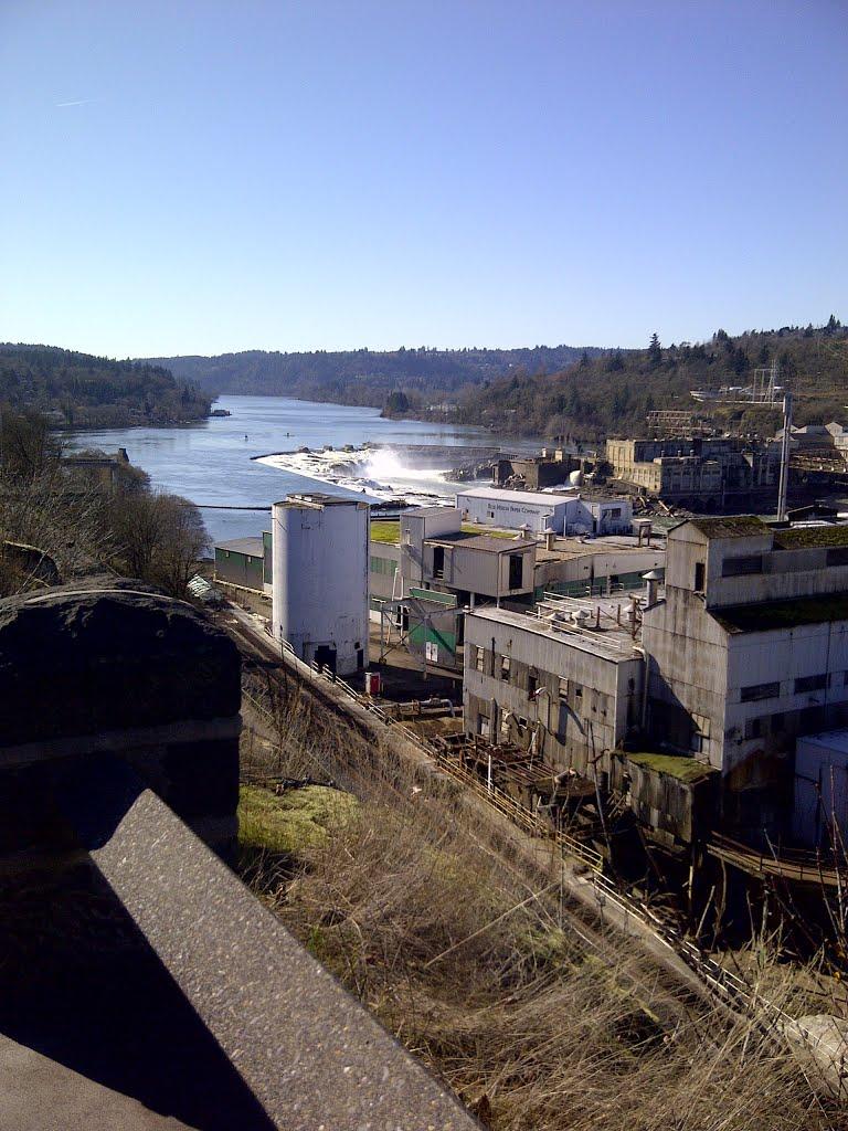 Old Blue Heron Mill at Willamette Falls, OC Oregon, Седар-Хиллс