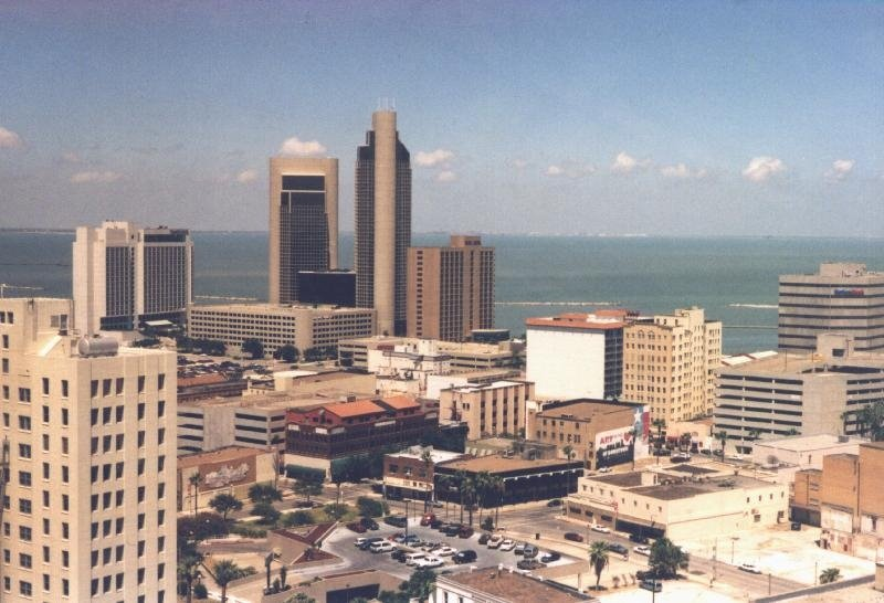 View from 17th Floor American Electric Power building, Corpus Christi, TX, Корпус-Кристи