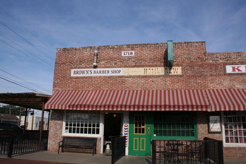 Lubbock, Browns Barber Shop, Лаббок
