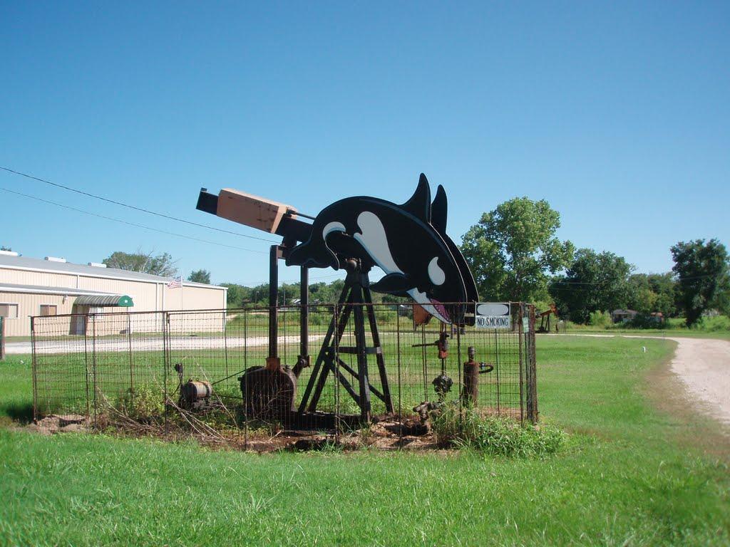 Decorated Petroleum Pump, Luling, Texas, Лулинг