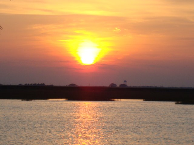 un atardecer en bayou vista, Норт-Ричланд-Хиллс