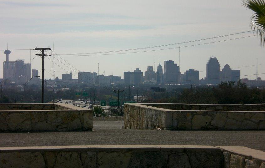 San Antonio Skyline from Trinity University, Олмос-Парк