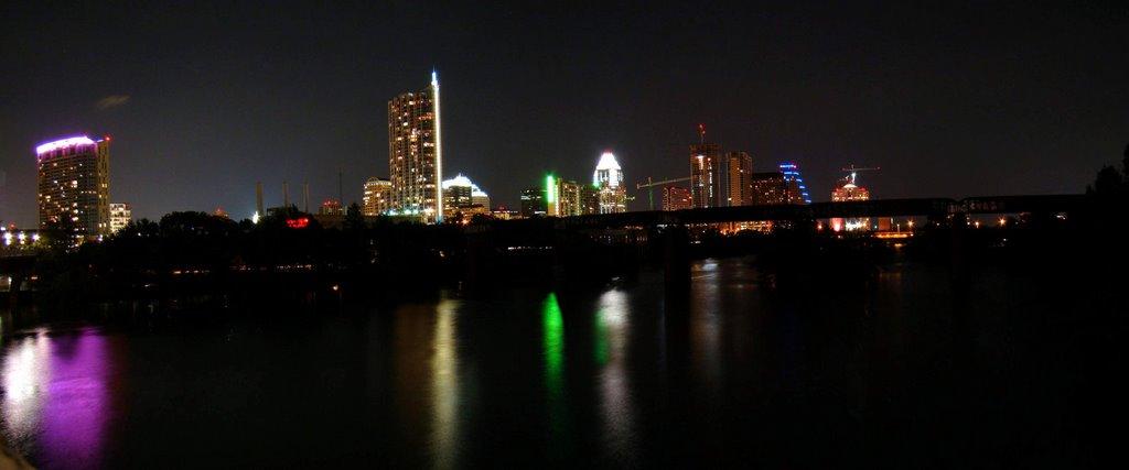 DSC00153 Panoramic view at night, Остин