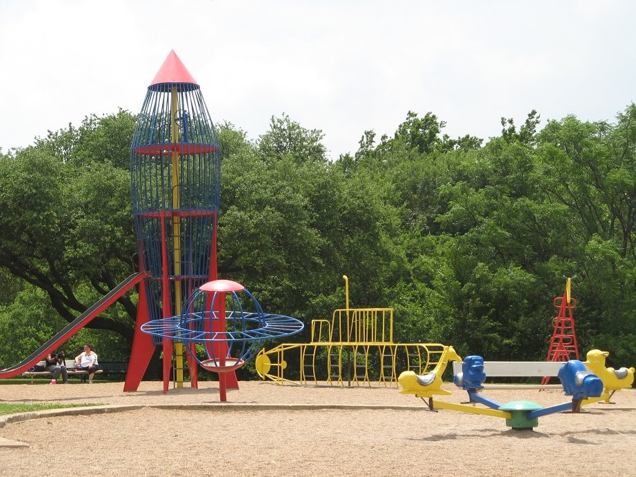 Spaceship, Old Playground --- replaced with a new one. Heights Park, Richardson, Texas, Ричардсон