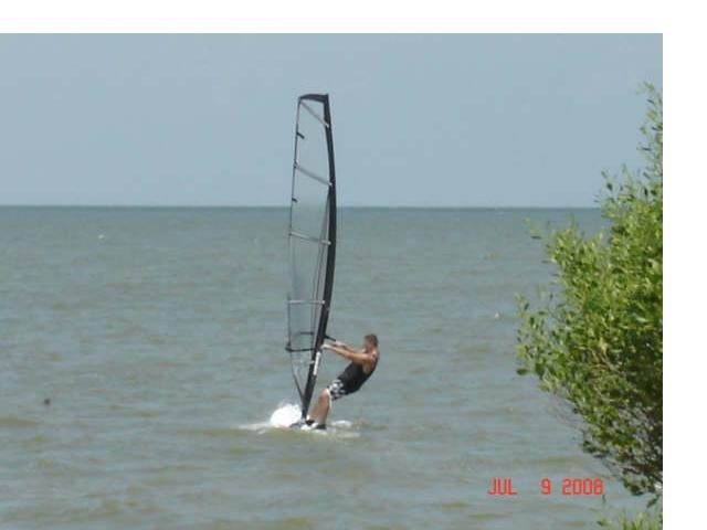 Windsurfing Galveston Bay, Сагинау