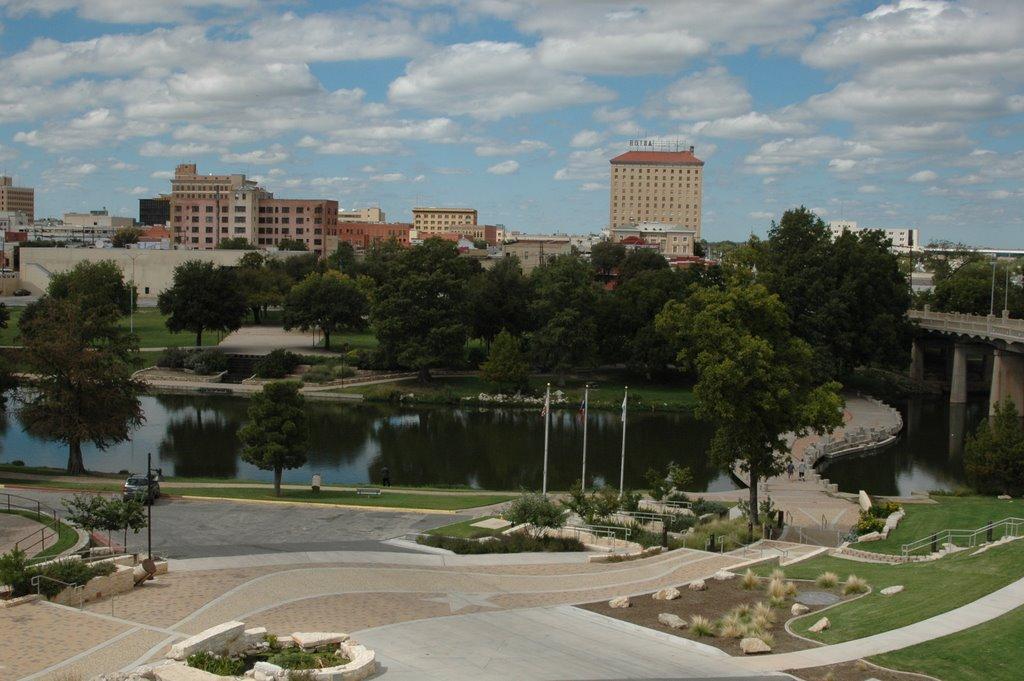 View of Downtown San Angelo and Riverwalk, Сан-Анжело