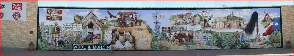 Wool Mohair Mural - San Angelo, Сан-Анжело