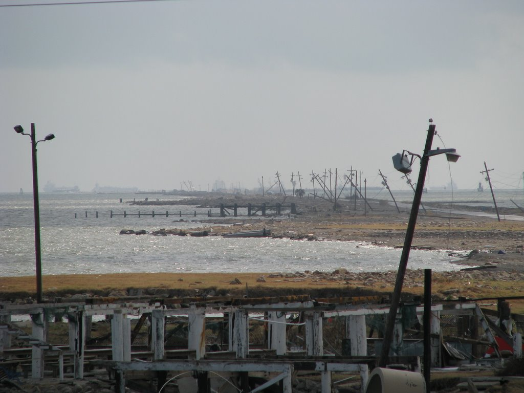 Texas City dike, post Hurricane Ike, Сегуин