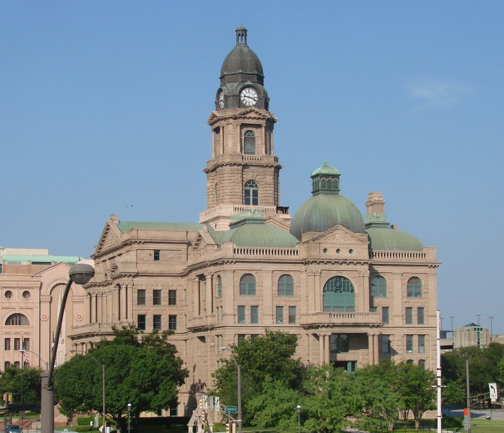 """Tarrent Co. Court House """"Fort Worth, Texas"""", Форт-Уэрт"""