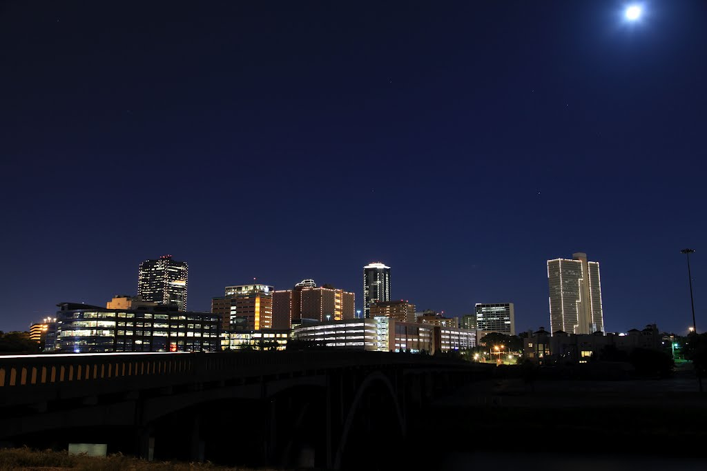 Night skyline, Форт-Уэрт