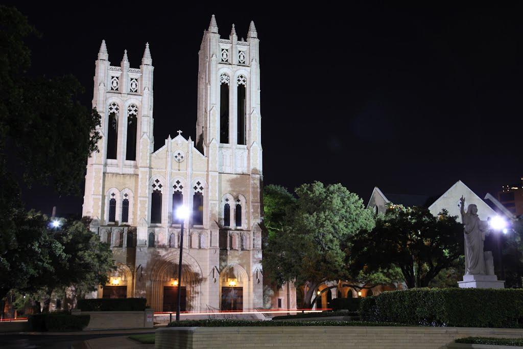 Night time @ First United Methodist Church, Форт-Уэрт